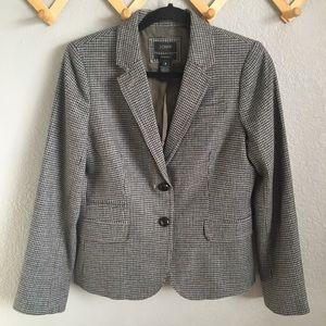 J.CREW Schoolboy Houndstooth Wool Blazer Sz. 8